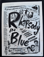 Rhapsody in Blue (1945) - Al Jolson | Vintage Trade Ad